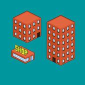 Pixel House — Stock vektor
