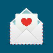 Envelope com coração — Vetorial Stock
