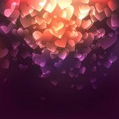 светящийся сердца — Cтоковый вектор