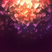 Glowing Hearts — Vetorial Stock