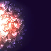 Glowing Hearts — Stock Vector