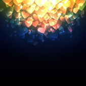 Glowing Hearts — Vettoriale Stock