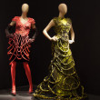 Two female mannequins dressed in beautiful dresses — Stock Photo #12094387