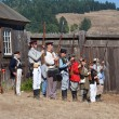 Fort Ross Bicentennial Weekend. Shooting of the old muskets . — Stock Photo