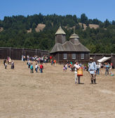 In Fort Ross at Fort Ross Bicentennial Weekend — Stock Photo
