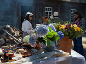 Old Russian style cooking in Fort Ross — Stock Photo