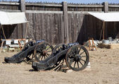 Old cannons in Fort Ross — Stock Photo
