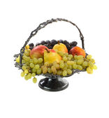 Antique vase with fruits. Isolated. — Stock Photo