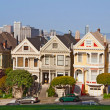 San Francisco. Victorian homes. - Stock Photo