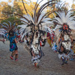 American Indian dancers at Stanford PowWow. — Stock Photo