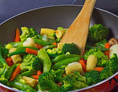 Close-up of stir fry vegetables — Stock Photo