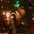 Christmas candel — Stock Photo