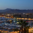 Los Cabos, Mexico night view from above — Stock Photo