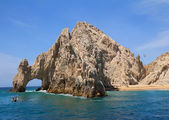 Cabo San Lucas Arch (El Arco) and Lovers beach — Stockfoto