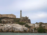 Closeup of Alcatraz Island in San Francisco, USA. — Stock Photo