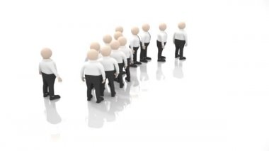 Office scenes (turn, crowd of clerks) — Stock Video
