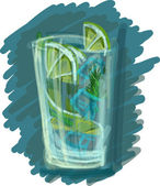 Mojito with ice (Achieved major strokes of paint) — Stock Photo