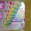 Royalty-Free Stock Photo: Conceptual modern building made of colored glass cubes
