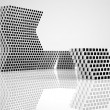 Royalty-Free Stock Photo: Conceptual modern building made of monochrome glass cubes