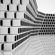 Conceptual modern building made of monochrome glass cubes — Foto Stock #14748471