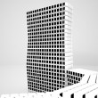 Conceptual modern building made of monochrome glass cubes - Stock Photo