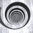 Abstract concrete spiral staircase — Stock Photo