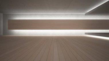 Abstrakt geometrisk bakgrund av betong och trä — Stockvideo