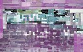 Astratto sfondo architettonico di rettangoli di vetro colorato — Foto Stock
