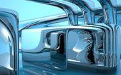 Water Kaleidoscope blue — Stock Photo