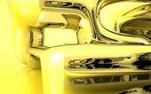 Water Kaleidoscope yellow — Stock Photo