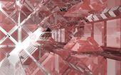 Astratto sfondo architettonico di prismi di vetro colorato — Foto Stock