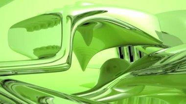 Water Kaleidoscope green — Stock Video
