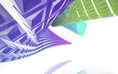 Abstrait architecture. concept d'architecture organique. — Photo