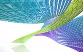 Abstract Architecture. Concept of organic architecture. — Stock Photo