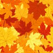 Seamless pattern with autumn maple leaves. Vector EPS 8. — Stock Vector #12315448