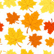 Seamless pattern with autumn maple leaves. Vector EPS 8. — Stock Vector #12361063