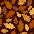 Seamless pattern with autumn oak leaves. Vector EPS 8. — Stock Vector #12382311