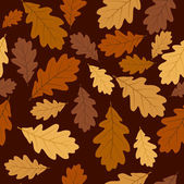 Seamless pattern with autumn oak leaves. Vector EPS 8. — Stock Vector