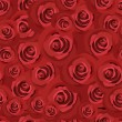 Seamless pattern with red roses. Vector EPS 8. — Stok Vektör