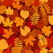 Seamless pattern with autumn leaves. Vector EPS 8. — Stock Vector