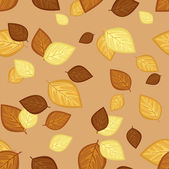 Seamless pattern with autumn leaves. Vector illustration. — Stock Vector