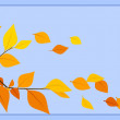 Autumn leaves on a blue background. Vector illustration. — Stock Vector