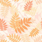 Seamless pattern with autumn rowan leaves. Vector illustration. — Stock Vector