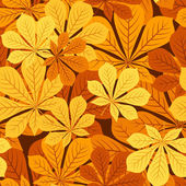 Seamless pattern with autumn chestnut leaves. Vector illustration. — Stock Vector