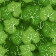 Seamless pattern with green pumpkin leaves. Vector illustration. - Stock Vector