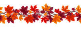 Horizontal seamless background with autumn maple leaves. Vector illustration. — Stock Vector