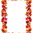 Autumn maple leaves frame. Vector illustration. - Stock Vector