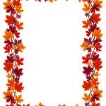 Autumn maple leaves frame. Vector illustration. — Stock Vector