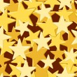 Seamless pattern with golden stars. Vector illustration. - Stock Vector