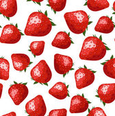 Seamless pattern with strawberries. Vector illustration. — Stock Vector